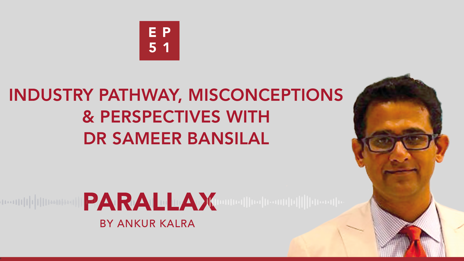 Industry Pathway, Misconceptions & Perspectives with Dr Sameer Bansilal