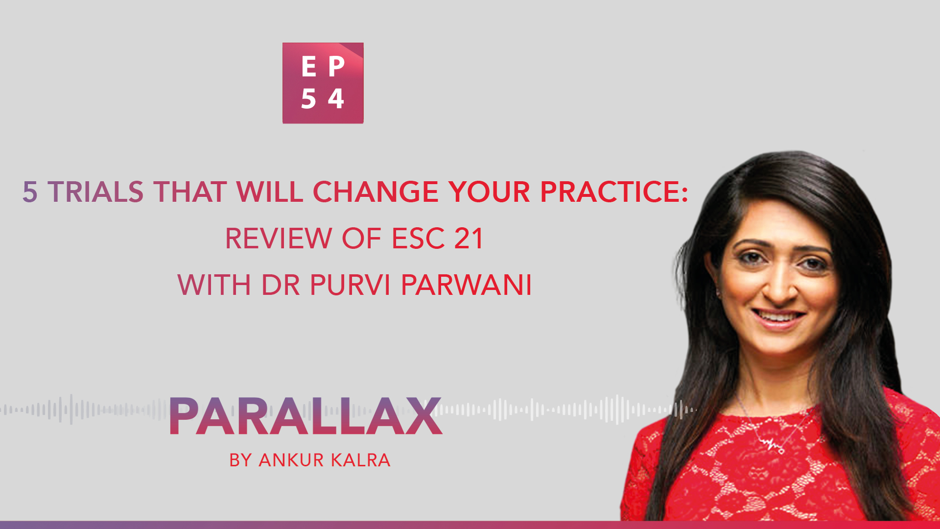 EP 54: 5 Trials that will change your practice: Review of ESC 21 with Dr Purvi Parwani