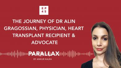 EP 45: The Journey of Dr Alin Gragossian, Physician, Heart Transplant Recipient & Advocate