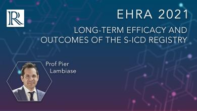 EHRA 2021: Long-Term Efficacy and Outcomes of the S-ICD Registry
