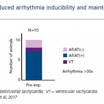Reduced arrhythmia inducibility and maintenance with the Impella