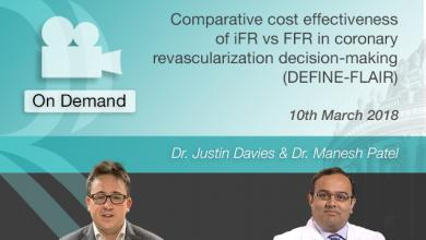 Comparative cost effectiveness of IFR VS FFR with Dr Justin Davies & Dr Manesh Patel