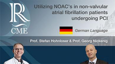 NOAC's in non-valvular atrial fibrillation patients undergoing PCI - GERMAN