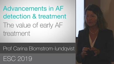 The value of early AF treatment