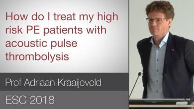 ESC 2018: New Treatment Options - High Risk PE Patients