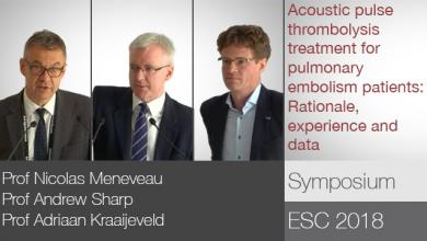 ESC 2018: Acoustic Pulse Thrombolysis™ Treatment For Pulmonary Embolism Patients: Rationale, Experience And Data