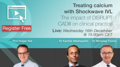 Treating calcium with Shockwave IVL – DISRUPT CADIII