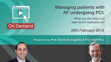 AF undergoing PCI