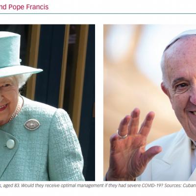 Queen Elizabeth II and Pope Francis